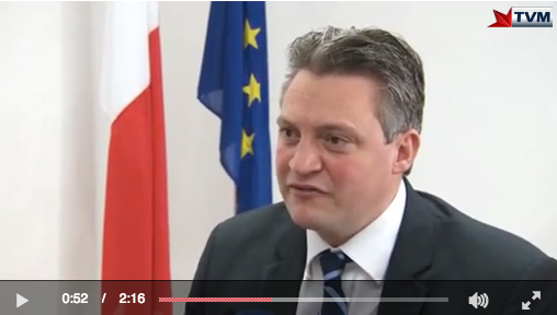 Konrad Mizzi in TVM video