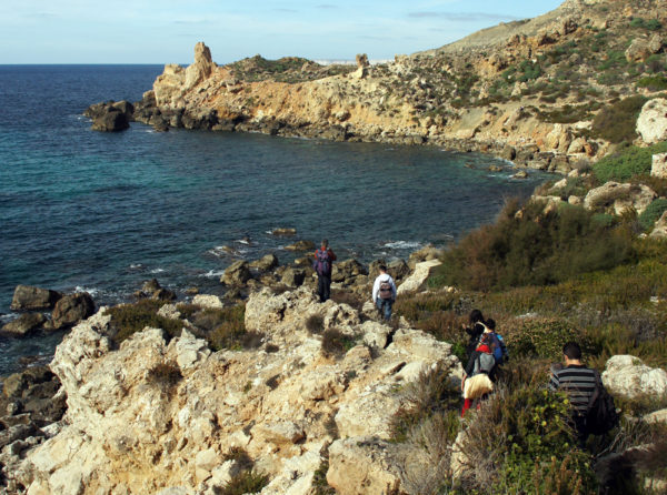 trekking Malta in winter